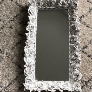Other - White rose mirrored vanity tray